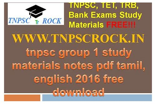 tnpsc group 1 baixar de materials in english