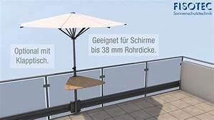 der bewegliche sonnenschirm youtube With französischer balkon mit gardenline rechteck sonnenschirm