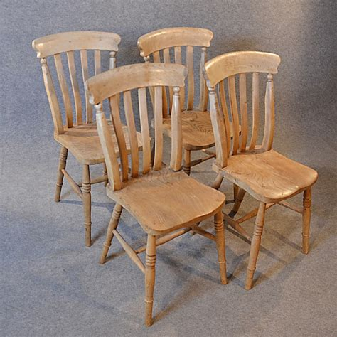 antique kitchen dining chairs set 4 quality elm