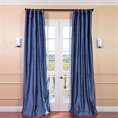 Blue Draperies - winter blue silk curtains half price drapes