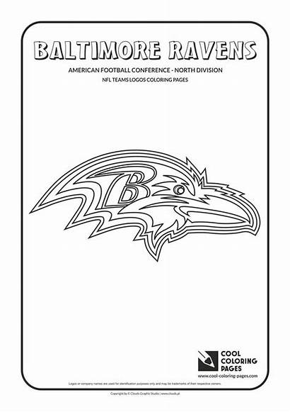 Nfl Coloring Football Pages Logos Ravens Baltimore