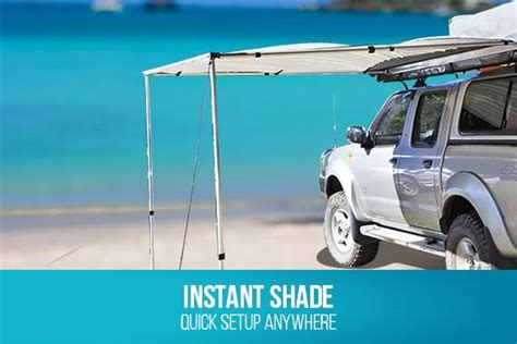 2.5m X 2m Pull Out Car Awning Shade Waterproof