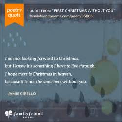 First Christmas Without You Poem