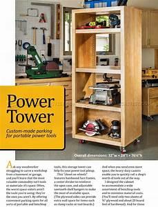 DIY Power Tool Storage Tower • WoodArchivist