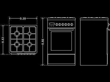 estufa bloque de mueble autocad  gratis dwgautocadcom