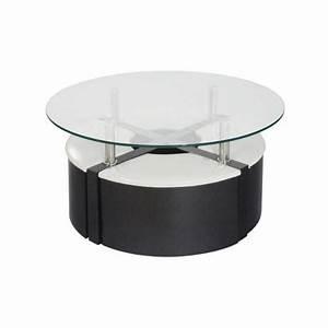 Table Basse 4 Poufs : table basse 4 poufs wengu et blanc achat vente table basse table basse 4 poufs cdiscount ~ Teatrodelosmanantiales.com Idées de Décoration