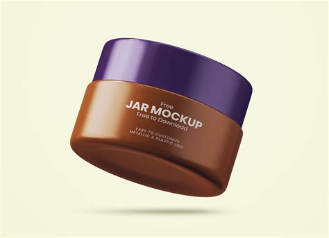 On the top of the jar cap you can use either plastic cap or paper cap and place design. Free Cosmetic Cream Jar Mockup PSD - Good Mockups