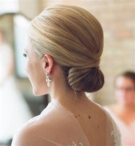 chignon bas de mariage coiffure en image