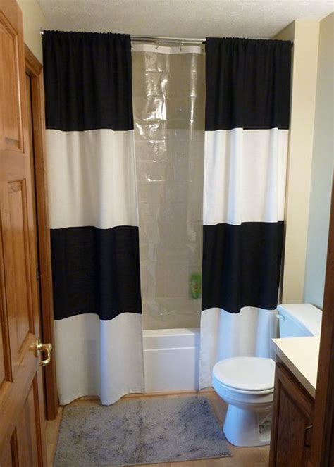 bathroom shower curtains ideas how to change the d 233 cor of your bathroom with a simple diy shower curtain 15 ideas