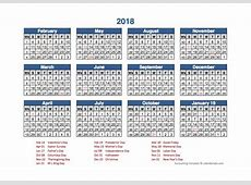 2018 Retail Accounting Calendar 445 Free Printable