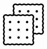 Outline Cracker Icon Flat Isolated Thin Line Editable Stroke States United Ylivdesign sketch template