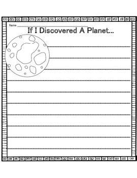 space writing prompts tpt free lessons