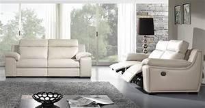 star relax ou fixe cuir ou microfibre ou mixte With cuir center canapé relax