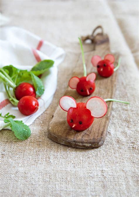 souris cuisine radis en forme de souris