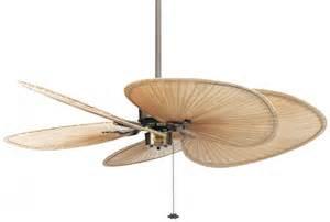 Palm Leaf Ceiling Fan Blades by Islander Deckenventilator Klassiker Antique Brass Isp1
