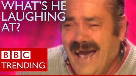 Laughing Man Meme - bbc news trending