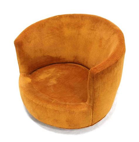 mid century modern barrel back swivel lounge chair