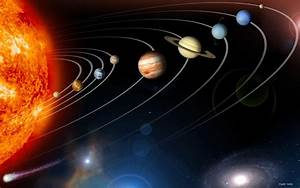 world sun system orbit space HD wallpaper