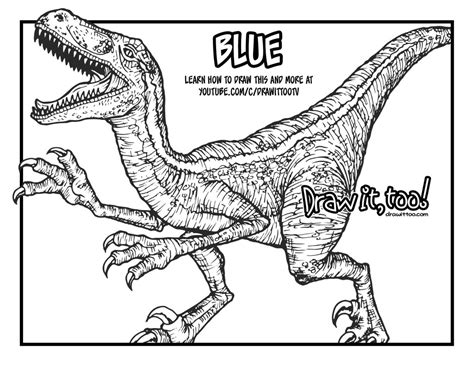 Kleurplaat Jurassic Park by Blue Jurassic World Coloring Page