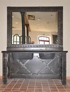 Meuble Salle De Bain Style Industriel : meuble industriel salle de bain ~ Melissatoandfro.com Idées de Décoration