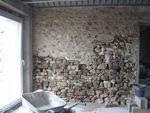 attrayant cuisine avec mur en pierre 1 mur en pierre With renovation mur pierre interieur