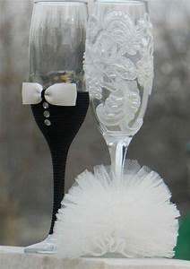 Flûtes à Champagne Originales : diy wedding champagne glasses ideas kimberly james ~ Teatrodelosmanantiales.com Idées de Décoration