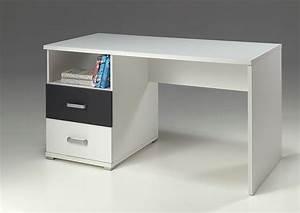 Bureau Blanc Simple : bureau blanc et gris moderne ~ Teatrodelosmanantiales.com Idées de Décoration