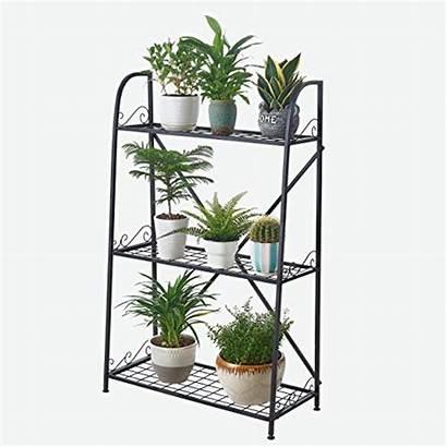 Plant Metal Stand Flower Outdoor Indoor Pots