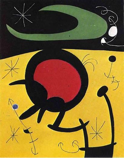Miro Joan Bird Painting Flight Paintings 1968