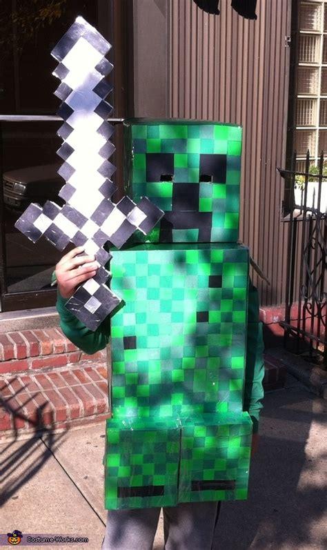 homemade minecraft creeper costume