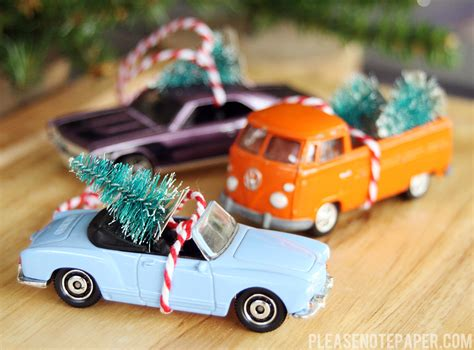 please note diy christmas car ornaments