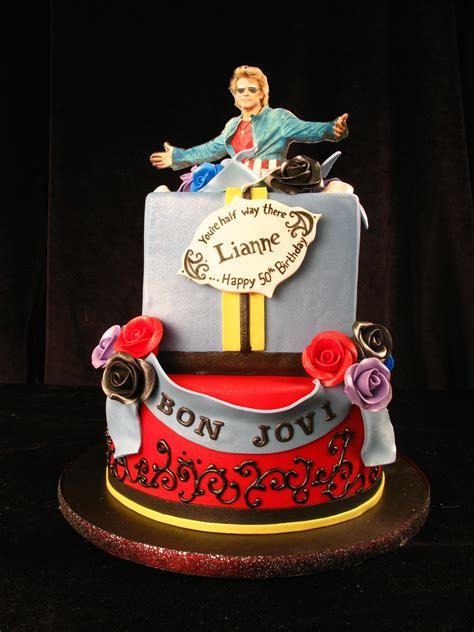 Bon Jovi Rocker Cake Throw Back Present Rock