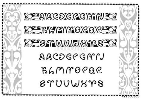 """""""maori Font"""" Fichier Vectoriel Libre De Droits Sur La"""