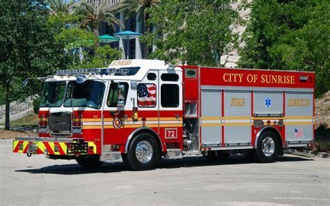 fl sunrise fire department engine ladder