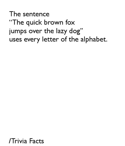 sentence with all letters the sentence the brown fox jumps the lazy 43351