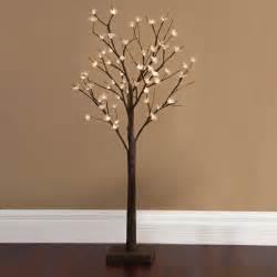 lighted birch tree tree branch light fixture home decor
