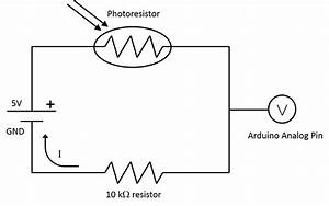 photoresistor motion detection article With a circuit is