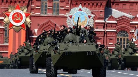 russia stages military parade  mark  years