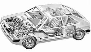 Volkswagen Scirocco Mk1 Cutaway Diagram