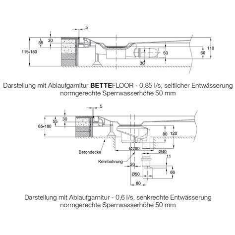 Bette Duschwanne Superflach Einbau by Bette Bettefloor Side Duschfl 228 Che 160 X 100 Cm 3397 000