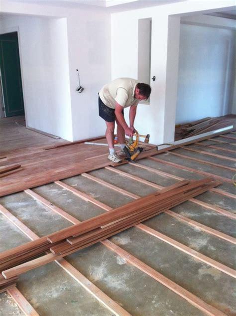 how to level wood subfloor for hardwood plywood subfloor over concrete floor installing engineered wood plywood subfloor over concrete