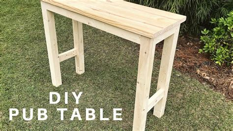 diy pub table youtube