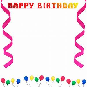 Free Birthday Borders - Happy Birthday Borders