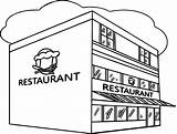 Coloring Restaurant Building Printable Restaurants Cafe Sheets Templates Rocks Getcolorings Fresh Resume Difficulty sketch template