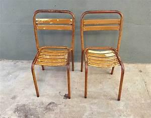 Chaise Bistrot Metal : paire chaises bistrot m tal style tolix ~ Teatrodelosmanantiales.com Idées de Décoration