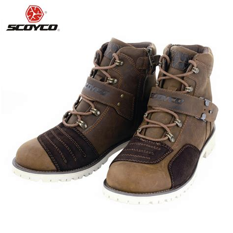 best motorbike boots scoyco motorcycle touring boots vintage design casual wear