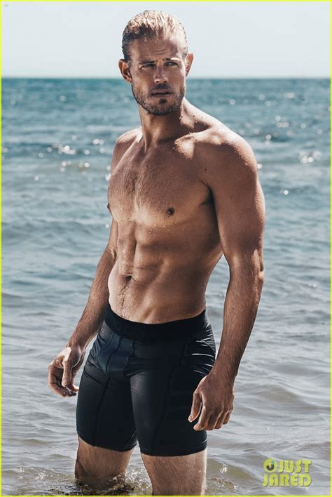 tomhopper bikini trevor donovan displays ripped muscles for shirtless beach