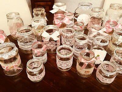 vintage hochzeitsdeko kaufen vintage hochzeit deko set 25teilig shabby spitze vasen teelichthalter rosa eur 59 00 picclick de