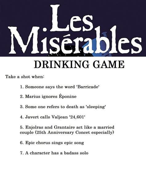 Drinking Game Memes - les mis drinking game by iorwenwillowdavis on deviantart