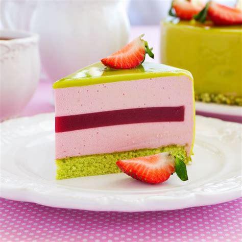 recettes cuisine minceur recette entremets fraises pistache